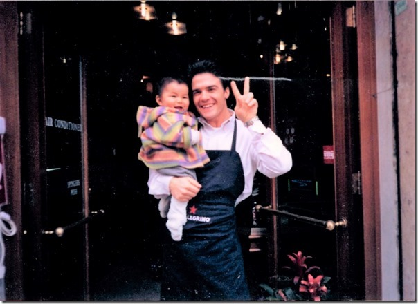 アントニオさんと赤ちゃん穂波