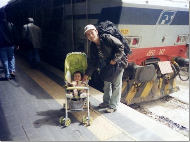 電車と赤ちゃん穂波